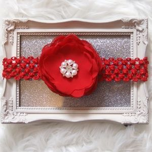 Other - Red Baby Headband